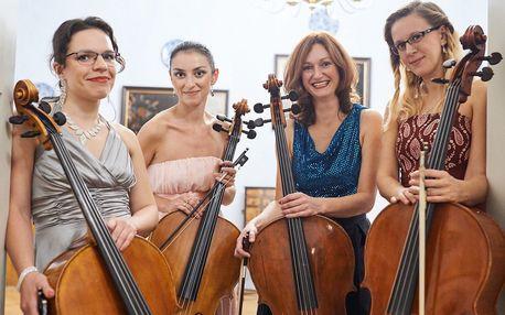 Vstupenka na koncert 4 violoncellistek s výhledem