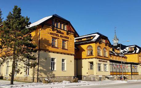 Hotel Bauer*** přímo u lyžařského areálu s wellness a polopenzí