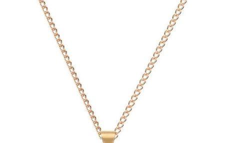 DECADORN Řetízek s přívěskem Tumbled Clear Quartz/Gold, zlatá barva, čirá barva, kov, kámen