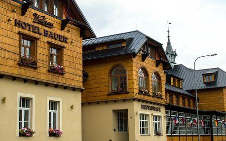 Depandance Hotelu Bauer přímo u ski areálu s wellness a polopenzí