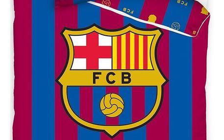 CarboTex Bavlněné povlečení FC Barcelona Víc než jen klub, 140 x 200 cm, 70 x 80 cm