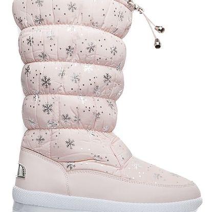 Dámské růžové sněhule Vanessa 016