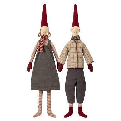 Maileg Skřítek Pixy Magda a Morten medium Magda, multi barva, textil