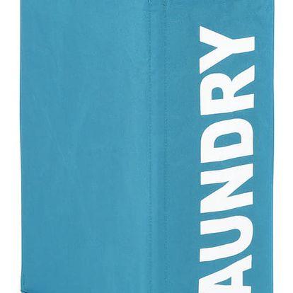 Koš na špinavé prádlo CORNO, kontejner 43 l - barva tyrkysová, WENKO