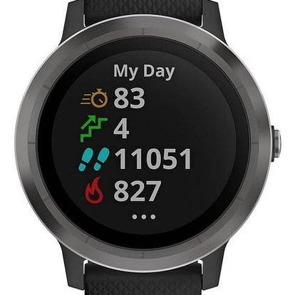 Chytré hodinky Garmin vívoActive3 Optic černé/šedé (010-01769-12)