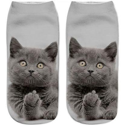 Kotníkové ponožky s kočičkou - 27 variant