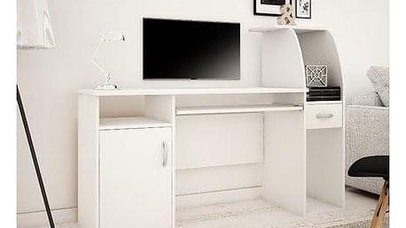 Počítačový stůl RESET Bílá