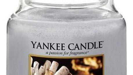 Yankee Candle Svíčka Yankee Candle 411gr - Crackling Wood Fire, šedá barva, sklo, vosk