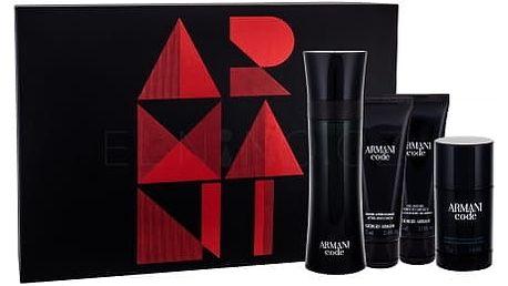 Giorgio Armani Armani Code Pour Homme dárková kazeta pro muže toaletní voda 125 ml + balzám po holení 75 ml + sprchový gel 75 ml + deostick 75 ml