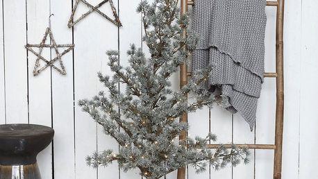 House Doctor Vánoční strom se světýlky Christmas 125 cm, zelená barva, hnědá barva, plast