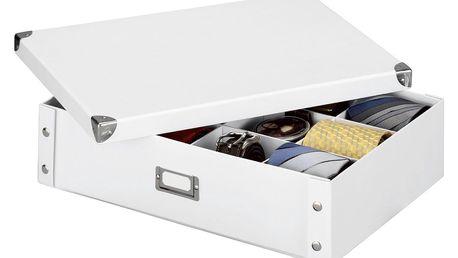 Box na kravaty a opasky - organizér, barva bílá, ZELLER