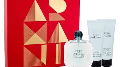 Giorgio Armani Acqua di Gioia dárková kazeta pro ženy parfémovaná voda 100 ml + tělové mléko 75 ml + sprchový gel 75 ml