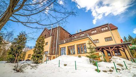 Jizerské hory u ski areálů s wellness