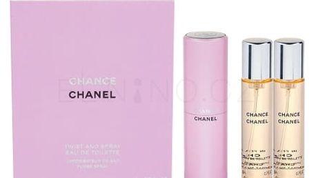 Chanel Chance 3x 20 ml 3x20 ml toaletní voda Twist and Spray pro ženy miniatura
