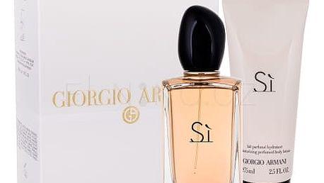 Giorgio Armani Sì dárková kazeta pro ženy parfémovaná voda 100 ml + tělové mléko 75 ml