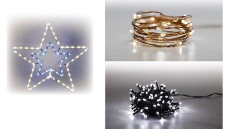 Marimex | Sada LED osvětlení (Svítící hvězda + Svítící struna + světelný řetěz 100 LED 5 m. - studená bílá) | 19900055