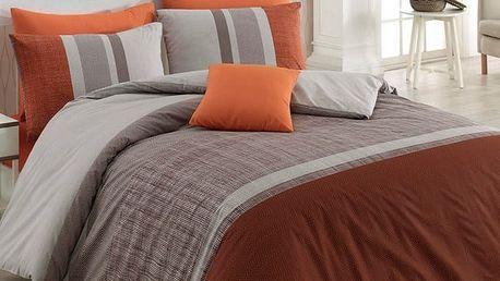 BedTex Bavlněné povlečení Spencer hnědá, 220 x 200 cm, 2 ks 70 x 90 cm