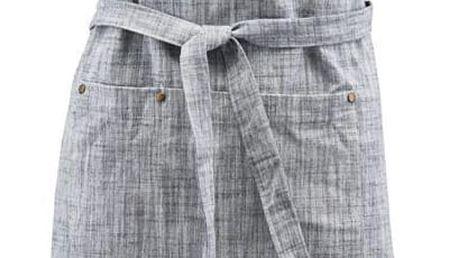 House Doctor Kuchyňská zástěra Polly, modrá barva, šedá barva, textil