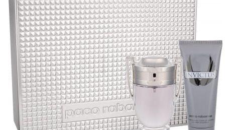 Paco Rabanne Invictus dárková kazeta pro muže toaletní voda 100 ml + sprchový gel 100 ml