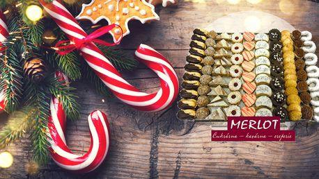 1 kg ručně vyráběného vánočního cukroví z cukrárny Merlot v Praze