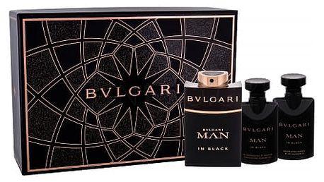 Bvlgari Man In Black dárková kazeta pro muže parfémovaná voda 60 ml + balzám po holení 40 ml + sprchový gel 40 ml