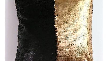 Povlak na polštář s flitry - měnící - zlatá barva - dodání do 2 dnů