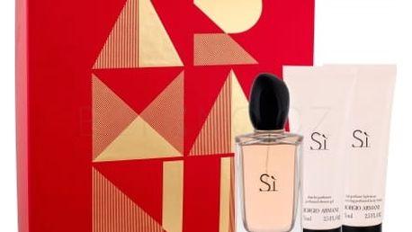 Giorgio Armani Sì dárková kazeta pro ženy parfémovaná voda 100 ml + tělové mléko 75 ml + sprchový gel 75 ml