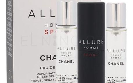 Chanel Allure Homme Sport 3x20 ml toaletní voda Twist and Spray pro muže miniatura