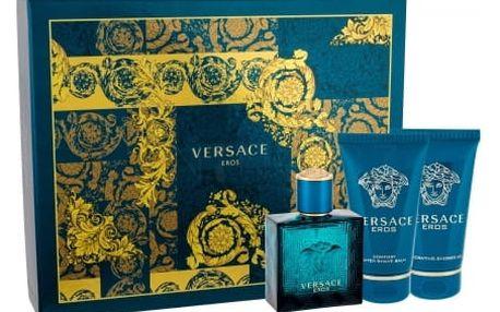 Versace Eros dárková kazeta pro muže toaletní voda 50ml + sprchový gel 50 ml + balzám po holení 50 ml