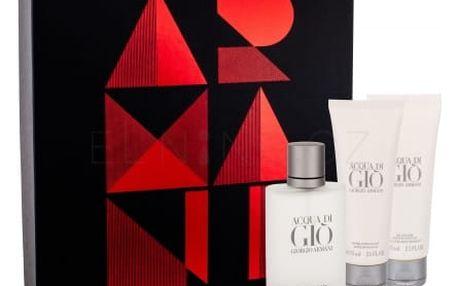 Giorgio Armani Acqua di Gio Pour Homme dárková kazeta pro muže toaletní voda 50 ml + balzám po holení 75 ml + sprchový gel 75 ml