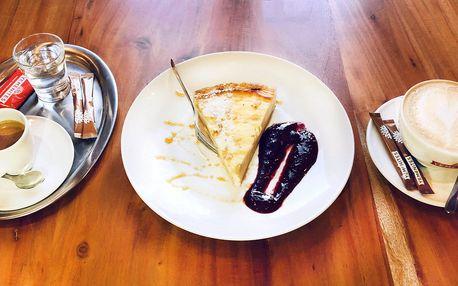 Sladké zahřátí: 2x káva a cheesecake