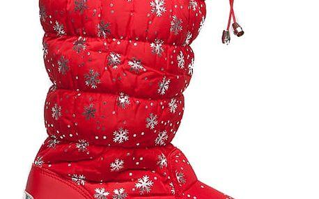 Dámské červené sněhule Vanessa 016