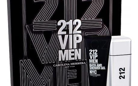 Carolina Herrera 212 VIP Men dárková kazeta pro muže toaletní voda 100 ml + sprchový gel 100 ml