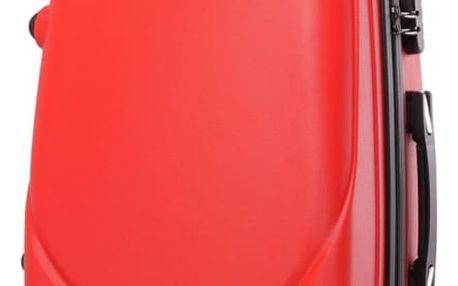 Dámský červený kabinový kufr Gyna 1602