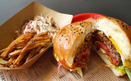 Coyote burger a příloha dle výběru pro 1 i 2 os.