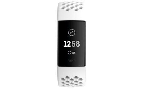 Fitbit Charge 3 speciální edice (NFC) - Graphite, White Silicone (FB410GMWT-EU)