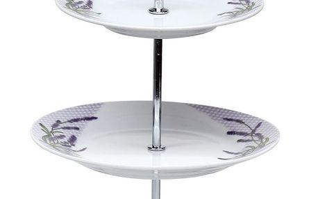 Banquet Lavender 3patrový stojan na cukroví