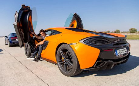 Jízda v McLaren 570S + sprint na letišti