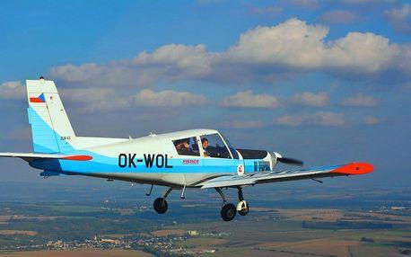 Vyhlídkový let nad Olomouckem pro 3 osoby