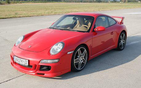 Jízda v Porsche 911 Carrera GT3 + sprint na letišti