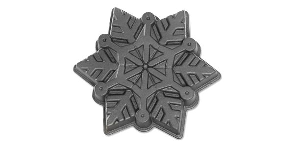 Nordic Ware Hliníková forma Frozen Snowflake Silver, stříbrná barva, kov