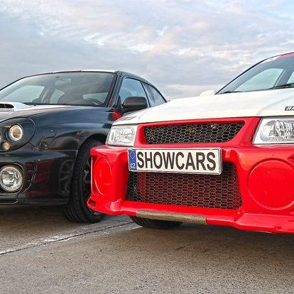 Jízda v Subaru a Mitsubishi na Polygonu Brno