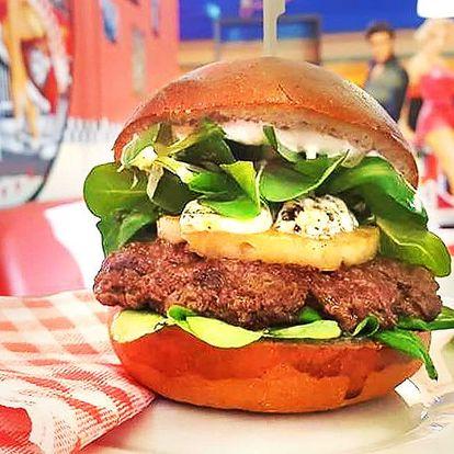 Burger podle výběru, hranolky i dip pro 1 i 2 os.