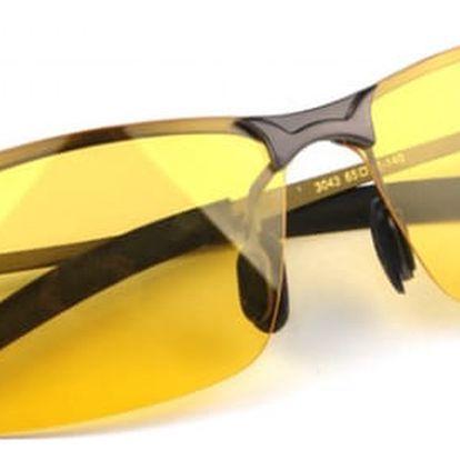 Brýle na noční vidění ve žluté barvě
