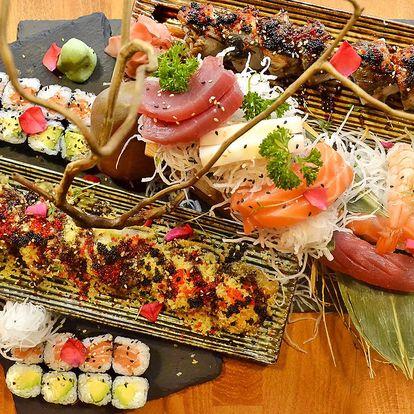 Degustační sushi set i s vínem pro 2 osoby