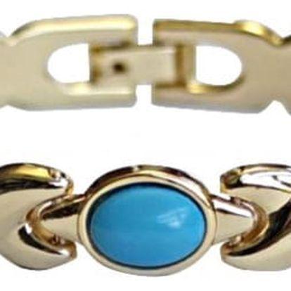 Modom Magnetický náramek s tyrkysovými kamínky
