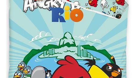 Tip Trade Dětské bavlněné povlečení Angry Birds Fly, 140 x 200 cm, 70 x 80 cm