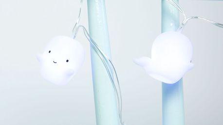 A Little Lovely Company Světelný řetěz Ghosts, bílá barva, plast