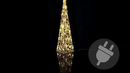 Nexos 206 Vánoční dekorace - Akrylový kužel - 60 cm, teple bílé + trafo