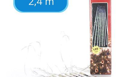 LEDLight Vánoční řetěz LED osvětlení, délka 2,4 m, 8 LED rampouchy